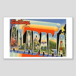 Alabama Postcard Rectangle Sticker