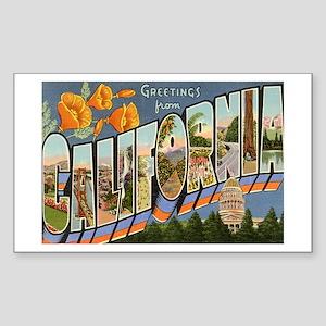 California CA Rectangle Sticker