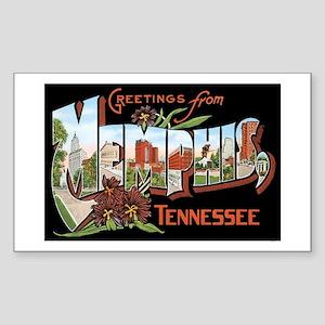 Memphis TN Rectangle Sticker