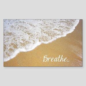 Just Breathe... Sticker (Rectangle)