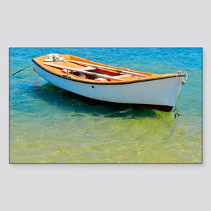 Floating Boat Sticker (Rectangle)