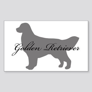 Golden Retriever Rectangle Sticker