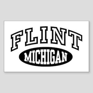 Flint Michigan Sticker (Rectangle)