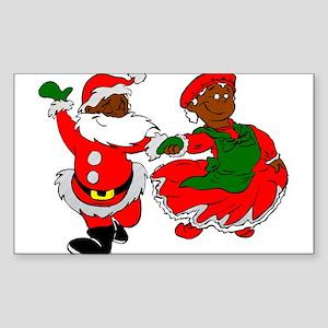 black santa mrs claus Sticker