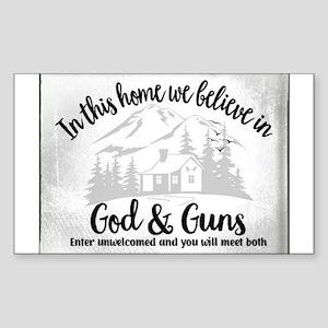 God & Guns Sticker