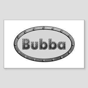 Bubba Metal Oval Rectangle Sticker