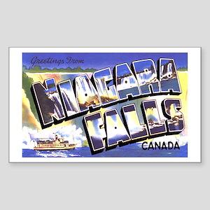 Niagara Falls Canada Rectangle Sticker