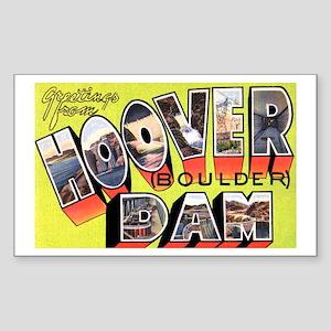 Hoover Boulder Dam Rectangle Sticker