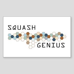 Squash Genius Rectangle Sticker
