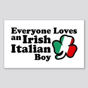 Everyone Loves an Irish Italian Boy Sticker (Recta
