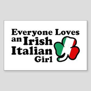 Everyone Loves an Irish Italian Girl Sticker (Rect