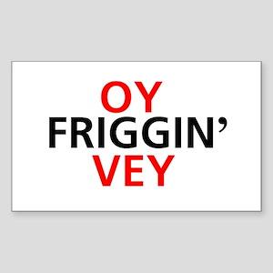 Oy Friggin' Vey Rectangle Sticker