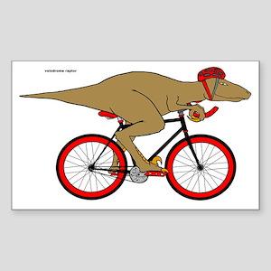 Velodrome Raptor Sticker (Rectangle)