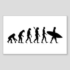 Evolution surfing Sticker (Rectangle)