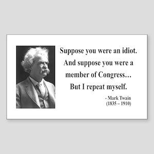 Mark Twain 15 Rectangle Sticker