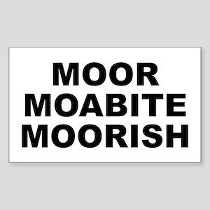 Moor Moabite Moorish Sticker (rectangle)
