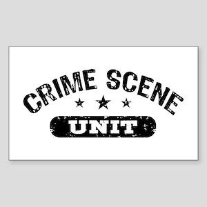 Crime Scene Unit Sticker (Rectangle)