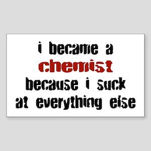 Chemist Suck at Everything Rectangle Sticker