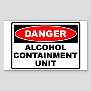 Alcohol Containment Rectangle Sticker