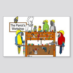 The Parrot's Workshop Logo Sticker (Rectangle)