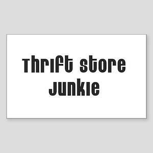 Thrift Store Junkie Rectangle Sticker