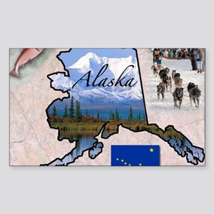 AlaskaMap28 Sticker (Rectangle)