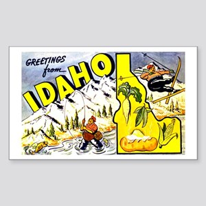 Idaho State Greetings Rectangle Sticker