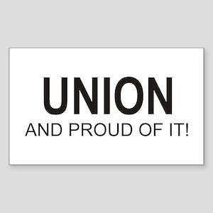 Proud Union Rectangle Sticker