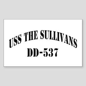 USS THE SULLIVANS Sticker (Rectangle)