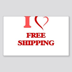 I love Free Shipping Sticker