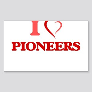 I Love Pioneers Sticker