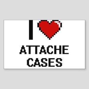 I Love Attache Cases Digitial Design Sticker