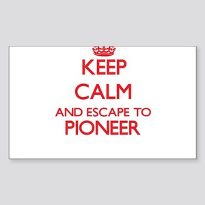 Keep calm and escape to Pioneer Massachuse Sticker