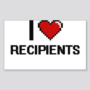I Love Recipients Digital Design Sticker