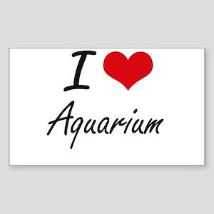 I Love Aquarium Artistic Design Sticker