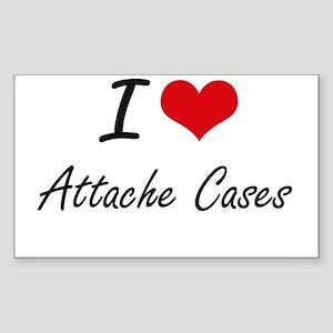 I Love Attache Cases Artistic Design Sticker