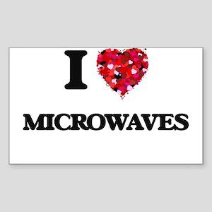 I Love Microwaves food design Sticker
