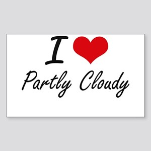 I love Partly Cloudy Sticker
