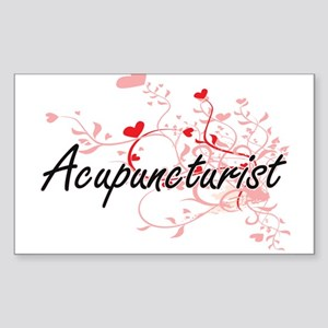 Acupuncturist Artistic Job Design with Hea Sticker