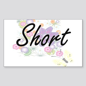 Short surname artistic design with Flowers Sticker