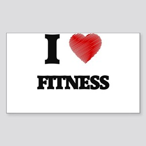 I love Fitness Sticker