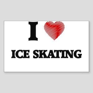 I love Ice Skating Sticker