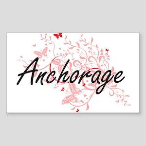 Anchorage Alaska City Artistic design with Sticker