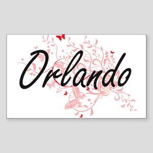 Orlando Florida City Artistic design with Sticker