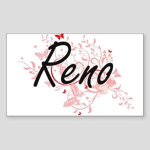 Reno Nevada City Artistic design with butt Sticker