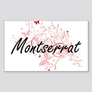 Montserrat Artistic Design with Butterflie Sticker