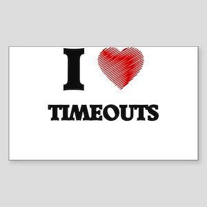 I love Timeouts Sticker
