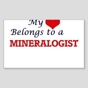 My heart belongs to a Mineralogist Sticker