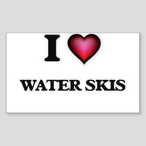 I love Water Skis Sticker