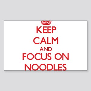 Keep Calm and focus on Noodles Sticker